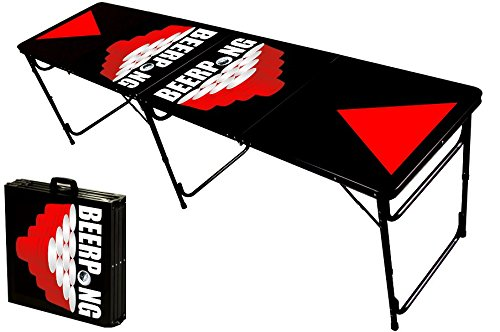8 foot professional beer pong table w optional glow lights bluetooth speaker holes red - Professional beer pong table ...