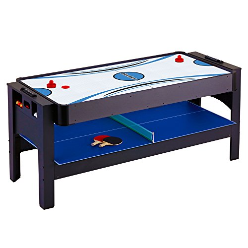 Hathaway triple threat 3 in 1 air hockey billiards and for Pool table 6 x 3