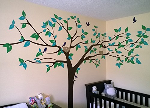 popdecors super big tree wall decal 133inch w pvc wall sticker tree big tree combination wall stickers